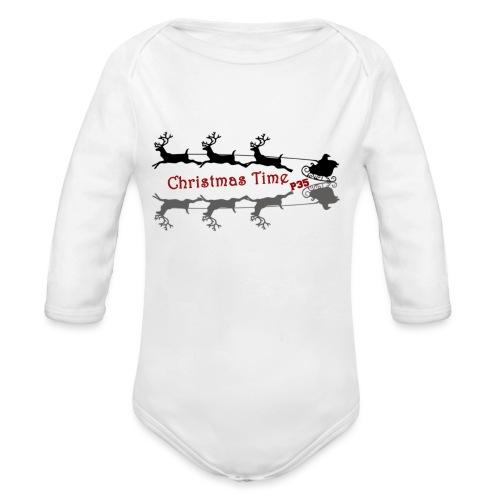 Christmas Time - Baby Bio-Langarm-Body