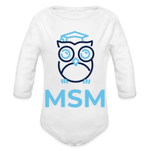 MSM UGLE - Langærmet babybody, økologisk bomuld