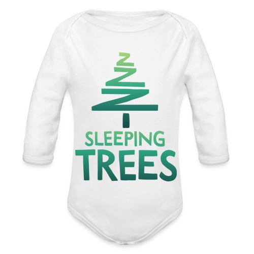 SleepingTrees Colour LightBackground png - Organic Longsleeve Baby Bodysuit