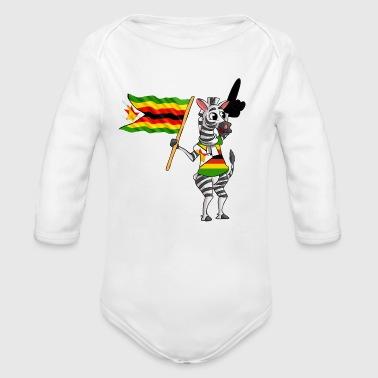 Zimbabwe Zebra - Ekologiczne body niemowlęce z długim rękawem