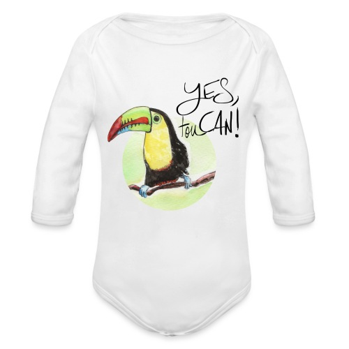 yes, toucan - Baby Bio-Langarm-Body