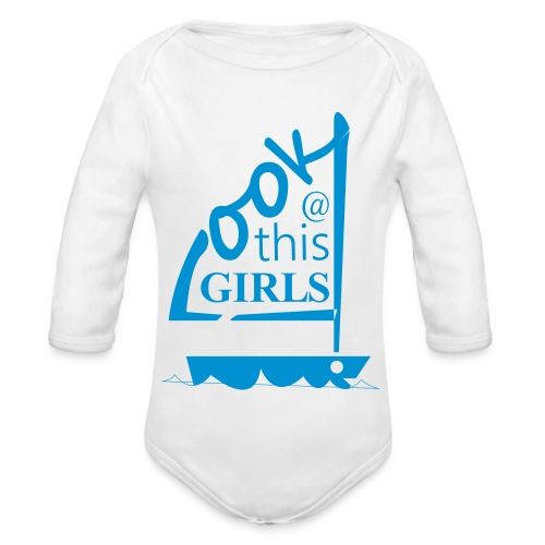 AndriesBik look thisGIRLS shirt witteletters - Baby bio-rompertje met lange mouwen