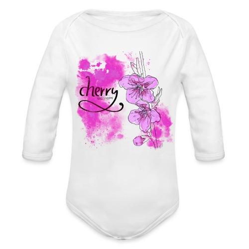 Kirschblüten Zweig - Baby Bio-Langarm-Body
