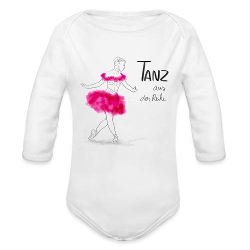 Ballerina mit rosa Tutu - Baby Bio-Langarm-Body