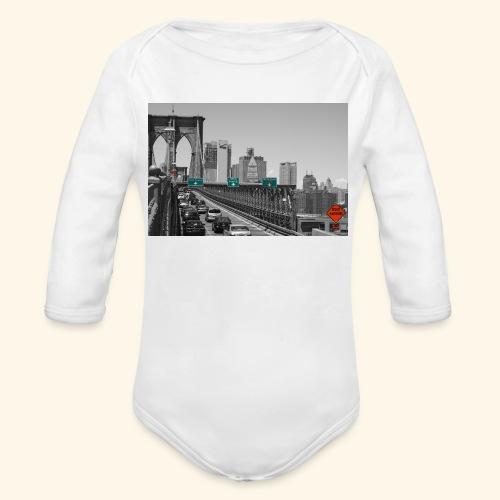 Brooklyn bridge - Body ecologico per neonato a manica lunga