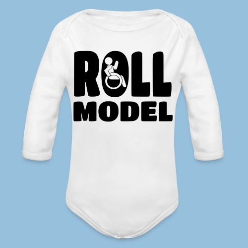 Roll model 016 - Baby bio-rompertje met lange mouwen