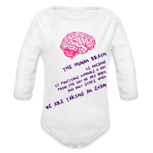 Human Brain - Body ecologico per neonato a manica lunga