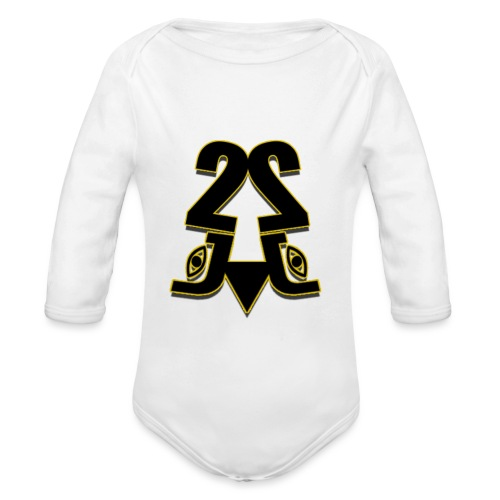 2J logo - Langærmet babybody, økologisk bomuld