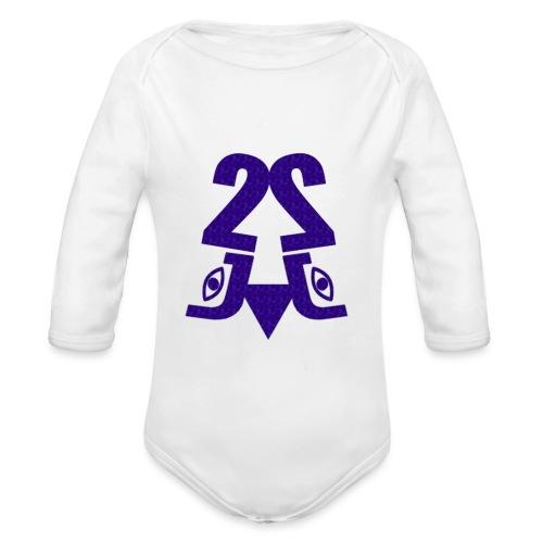 2J_Water - Langærmet babybody, økologisk bomuld