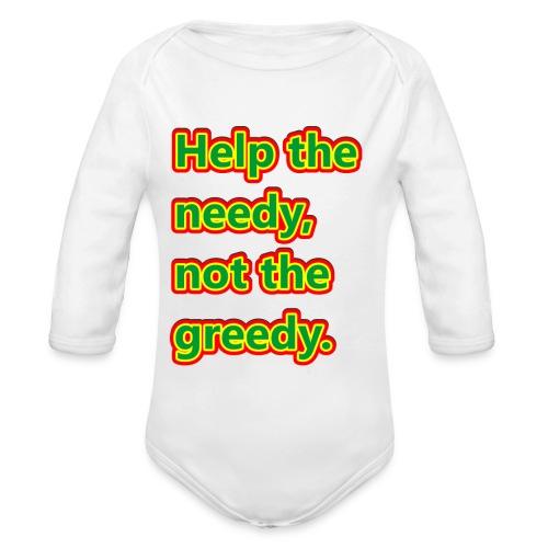 help - Organic Longsleeve Baby Bodysuit