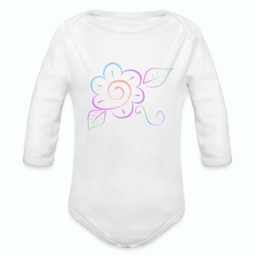 Tonalidades de en flor - Body orgánico de manga larga para bebé