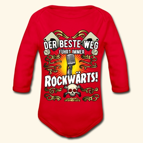 Rock Music Shirt ROCKWÄRTS - Baby Bio-Langarm-Body