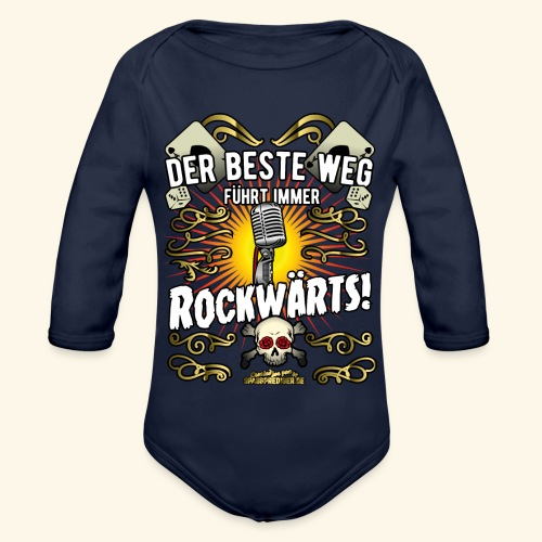 Rock Music Shirt ROCKWÄRTS - Baby Bio-Langarm-Body