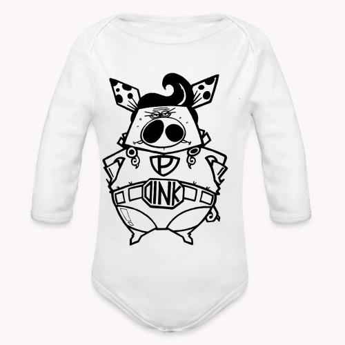 super oink - Body ecologico per neonato a manica lunga