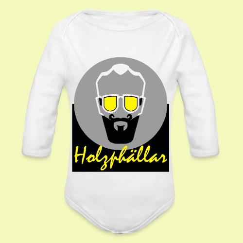 Holzphällar Logo - Baby Bio-Langarm-Body