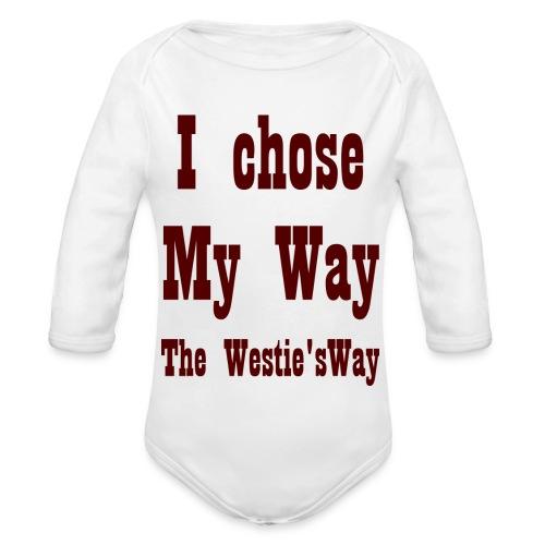 I chose My Way Brown - Ekologiczne body niemowlęce z długim rękawem