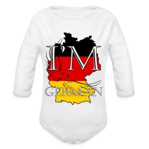 I am German - Body ecologico per neonato a manica lunga