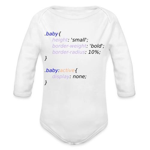 Baby with Style - Body orgánico de manga larga para bebé