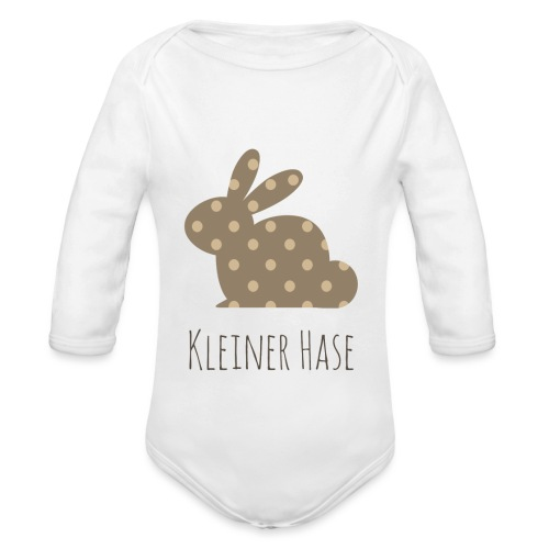 Kleiner Hase - Baby Bio-Langarm-Body