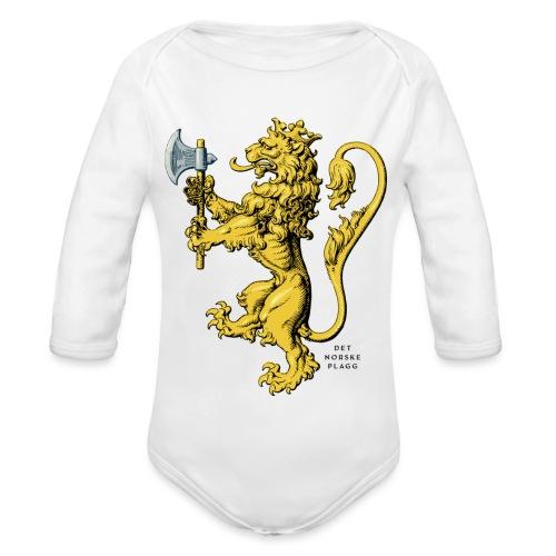 Den norske løve i gammel versjon - Økologisk langermet baby-body