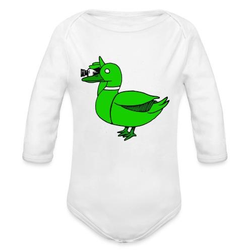 Greenduck Film Just Duck - Langærmet babybody, økologisk bomuld