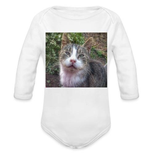 Katze Max - Baby Bio-Langarm-Body