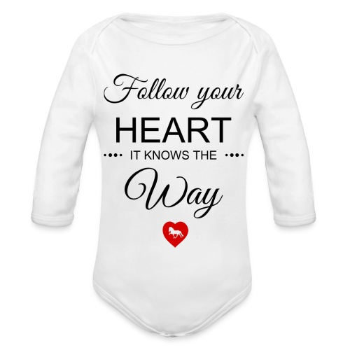 follow your heartbesser - Baby Bio-Langarm-Body