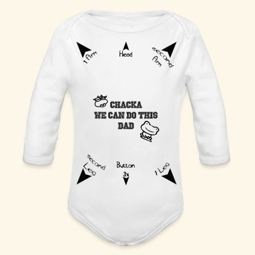We can do this US/UK Ver. - Baby Bio-Langarm-Body