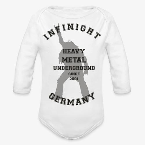 Infinight College headbanger dark - Baby Bio-Langarm-Body