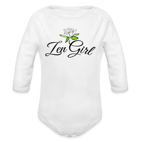 Zen Girl -Lotus Blomma - Prima Vera Design - Ekologisk långärmad babybody