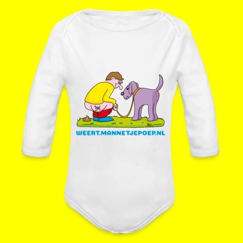 Mannetje Poep Illustratie - Baby bio-rompertje met lange mouwen