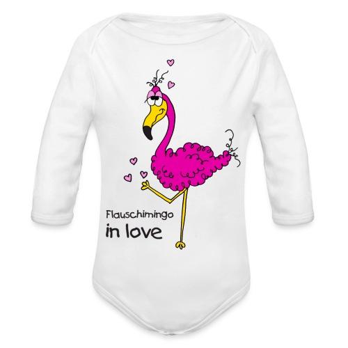 Flauschimingo in love - Baby Bio-Langarm-Body