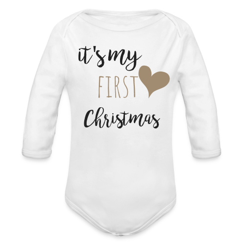 it's my first christmas - Baby Bio-Langarm-Body