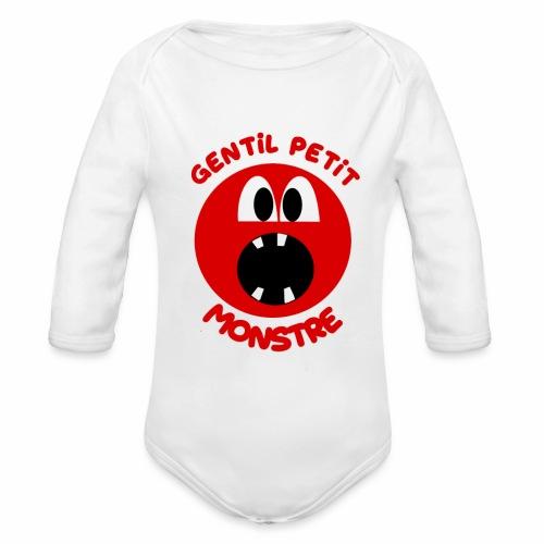 Gentil Petit Monstre - Body Bébé bio manches longues