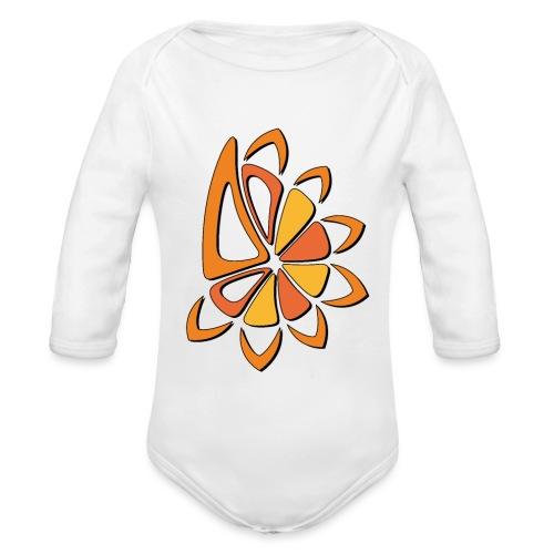 spicchi di sole caldo multicolore - Body ecologico per neonato a manica lunga