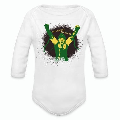 No Nespolo No Party - Body ecologico per neonato a manica lunga