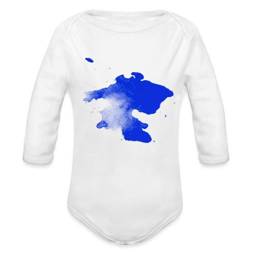 ink splatter - Organic Longsleeve Baby Bodysuit