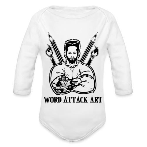 Word Attack Art - Baby Bio-Langarm-Body