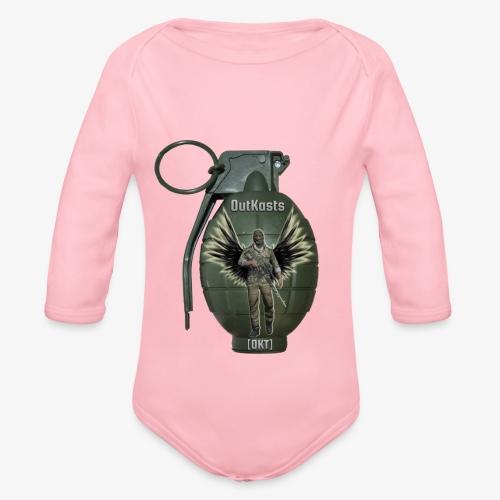 grenadearma3 png - Organic Longsleeve Baby Bodysuit