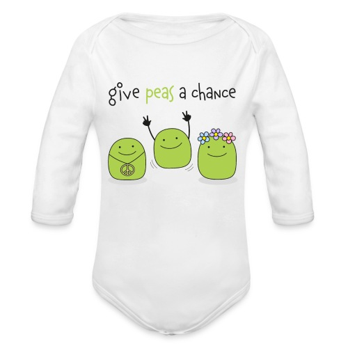 Give peas a chance! - Baby Bio-Langarm-Body