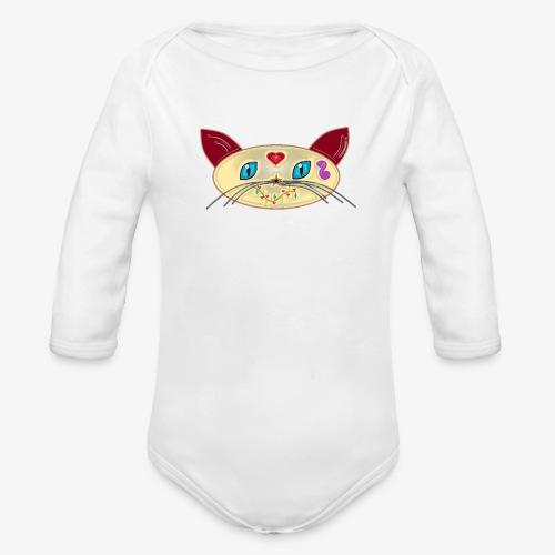 GATO PAOART - Body orgánico de manga larga para bebé