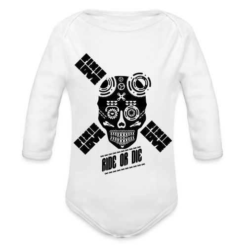 skull riding ride or die - Body Bébé bio manches longues