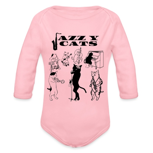 jazzy cats - Body Bébé bio manches longues