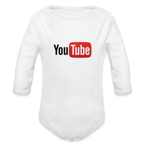 YouTube logo - Body Bébé bio manches longues