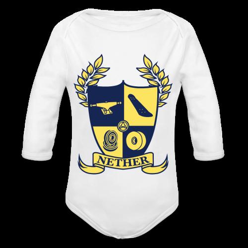 Nether College T-Shirt - Body ecologico per neonato a manica lunga