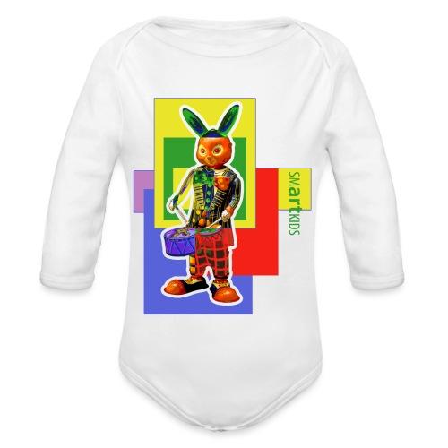 smARTkids - Slammin' Rabbit - Organic Longsleeve Baby Bodysuit