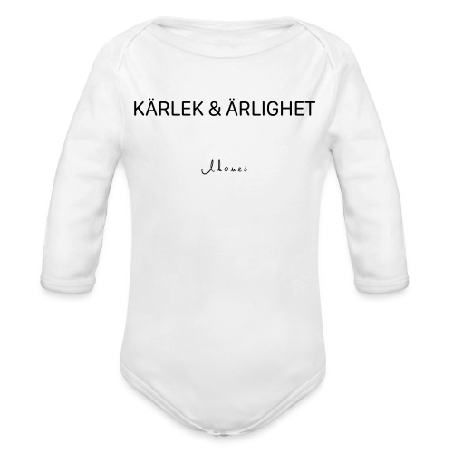KÄRLEK & ÄRLIGHET - Organic Longsleeve Baby Bodysuit
