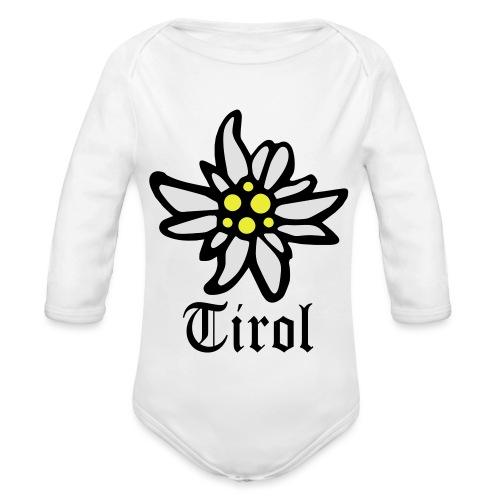 Tirol Edelweiss - Baby Bio-Langarm-Body