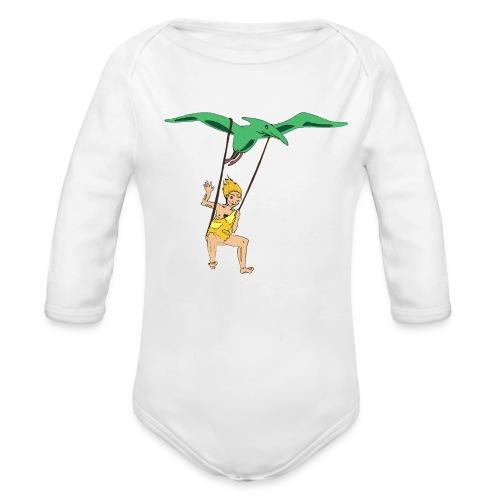 Vol en dinausore - Body Bébé bio manches longues
