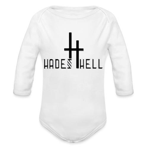 hadeshell black 3D - Baby Bio-Langarm-Body